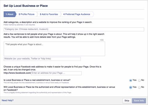 Setting-up your Facebook Business Page