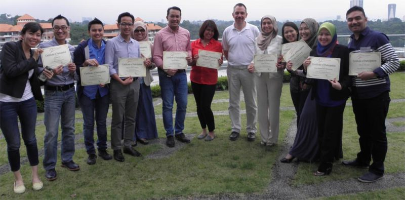 Course participants from Celcom