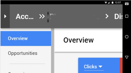 new Google AdWords interface-Not mobile friendly