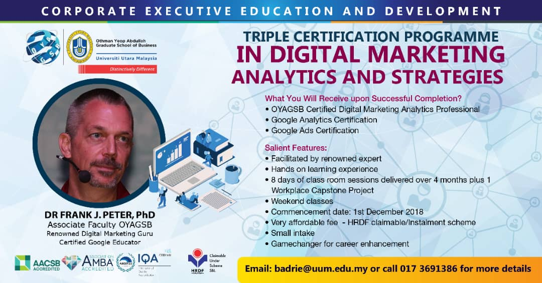 Triple Certification Program in Digital Marketing and Analytics