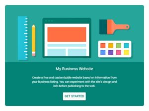 Build your free website with Google my Business
